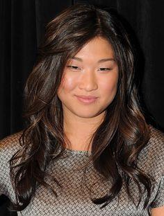 Glee's Jenna Ushkowitz has long, glossy waves