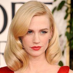 January Jones. gorgeous clean vintage makeup look