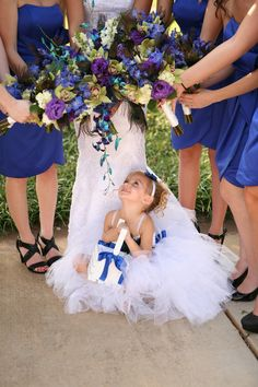 Cute photo of the flower girl