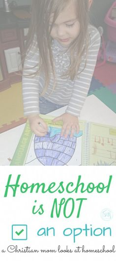 homeschool is NOT an
