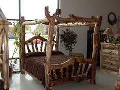 Rustic Aspen Log Bed