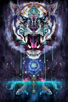 Trippy Feral Digital Art - Chris Saunders Collection of Intricate Psychedelic Digital Art Pieces..