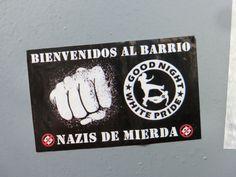 Antifa sticker in Barcelona.