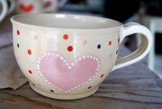 cup with pink heart