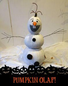 Olaf the Pumpkin Snowman! Pumpkin Snowmen, Christmas Pumpkins, Halloween Pumpkins, Snowman, Christmas Decorations, Pumpkin Decorating, Decorating Ideas, Olaf, Crafty