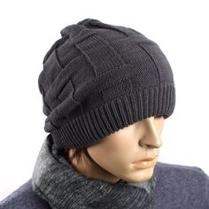2013 New Men's Fasion knit cap winter hat for man the trend of the hat knitted hat kuukaa