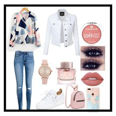 """""""💖"""" by katriin1311 ❤ liked on Polyvore featuring H&M, Giuseppe Zanotti, Vivani, Burberry and Lime Crime"""