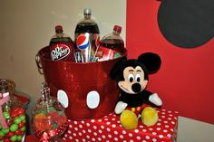 Mickey Mouse Soda Holder {For you Chris!}