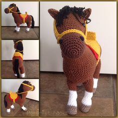 Horse / paard Pattern available at Christel Krukkert