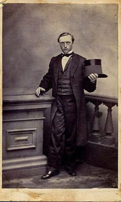 Gentleman Mourner Unmarked Albumen Carte De Visite Circa This Man Wears Black Mourning And Displays The Wide Crape Band On His Top Hat