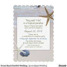 Ocean Beach Starfish Wedding Reception Only