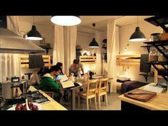 This was a video produced by IKEA to promote how you can use their products and furniture to furnish a highly livable small space. My favorite example: A family of four living in a 1-bedroom apartment. Parents slept in a queen size loft bed with curtain to block out light.