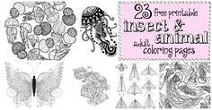 Adult Coloring Book Pages Animals Beautiful 23 Free Printable Insect & Animal Adult Coloring Pages Owl Coloring Pages, Valentine Coloring Pages, Adult Coloring Book Pages, Printable Adult Coloring Pages, Coloring Books, Kids Coloring, Do It Yourself Organization, Easy Animals, Free Printables