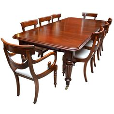 View This Item And Discover Similar Dining Room Tables For Sale At   A  Fantastic Antique Victorian Dining Table And Eight Chairs.