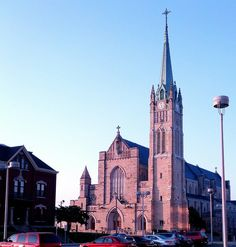 St Peters Cathedral in Belleville Illinois.  I took this early in the morning of July 4th, at sunrise. Karen Wheat