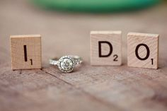"""I am so going to do this one of these some day can be done with a """"yes"""" makes a cute picture or save the date?!"""