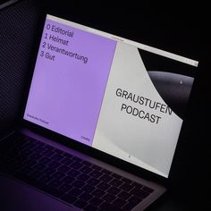 0936 - Repost - Desktop and mobile version of the website we built for our podcast GRAUSTUFEN. Featuring a great imagery… Design Page, App Design, Minimal Website Design, Brutalist Design, Web Patterns, Mobile Web Design, Grid Layouts, Website Layout, Interactive Design