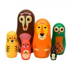 Dolls pull animals / Bianca and Family Matryoshka Doll, Vinyl Toys, Wooden Dolls, Cool Toys, Baby Toys, Crafts To Make, Kids Room, Make It Yourself, Fun