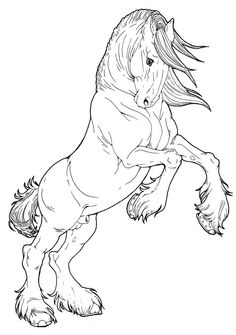 coloring pages wild horses - photo#37