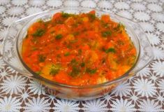 A very satisfying and tender appetizer from eggplant and Bulgarian pepper is prepared quite simply and turns out so tasty that it is simply impossible to convey in. Best Side Dishes, Yummy Appetizers, Eggplant, Curry, Tasty, Stuffed Peppers, Snacks, Ethnic Recipes, Food