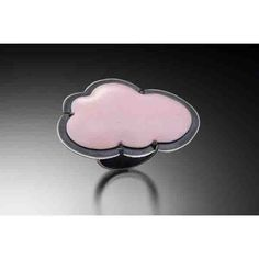 Enamel pink cloud ring by Lisa Crowder. American Made. See the designer's work at the 2016 American Made Show, Washington DC. January 15-17, 2016. americanmadeshow.com #americanmadeshow, #americanmade, #jewelry, #ring, #cloud