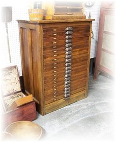 Antique HAMILTON Letterpress CABINET with 20 by MrsRekamepip, $2500.00