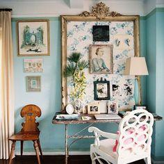 Fabric Pin Board in Ornate Frame - Classic, Feminine Desk