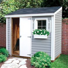 garden hutch garden storage garden shed sheds usa Backyard Sheds Backyard Storage Sheds, Storage Shed Plans, Backyard Sheds, Outdoor Sheds, Small Outdoor Shed, Garden Storage Shed, Shed Makeover, Garden Makeover, Backyard Ideas