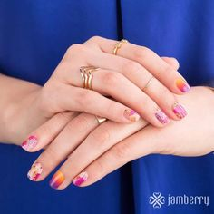 Just loved these Throwback Thursday designs! kerriberry.jamberry.com    #glam #glamour #fashion #style #ontrend #nails #nailart #nailstagram #glutenfree #vegan #crueltyfree  #sparkles #teal  #manicure #pedicure  #nontoxic