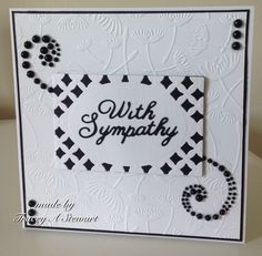 Sympathy card using Embossalicious Make a Wish, Spellbinders Diamond effects and Britannia Word Dies