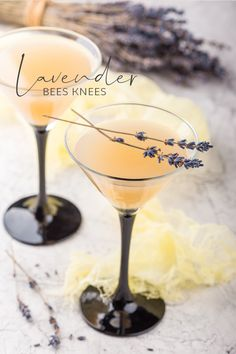 A classic honey Bee's Knees Gin Cocktail, with lavender to add a twist of floral perfume to the mix! Give it a go… you won't BEE disappointed Cocktails Lavender Bees Knees Summer Drinks, Fun Drinks, Alcoholic Drinks, Beverages, Pina Colada, Craft Gin, Painkiller Cocktail, Classic Cocktails, Best Gin Cocktails