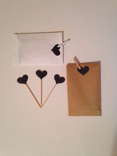 Black Glitter Heart Cupcake Toppers Wedding by thegiftgardenshoppe