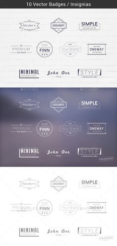 Minimal Badges Template PSD, Vector EPS, AI. Download here: http://graphicriver.net/item/minimal-vector-badges/14612316?ref=ksioks