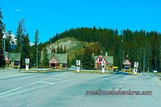 Entry Gates to Banff National Park Between Canmore and the Town of Banff, Alberta, Canada