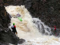 Kayaking on the Lester river outside of Duluth Minnesota