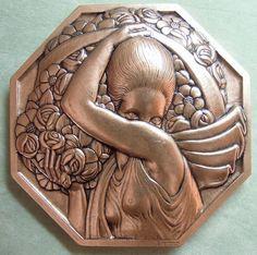 RESTRIKE France Classic Art Deco medal Pierre Turin Porteuse de Fleurs large | eBay