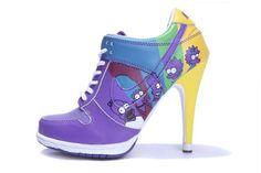 competitive price 1b90b 03cb7 Nike 2012 Newest Purple Yellow Dunk SB Heels Low Nike High Heels, Womens High  Heels