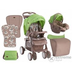 Carucior sport Lorelli Foxy SET , bej/verde,  Lambs Baby Strollers, Marvel, Digital, Children, Green, Sports, Lambs, Toddlers, Hs Sports