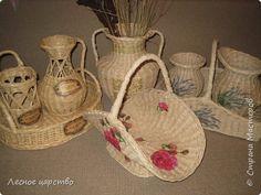 Поделка изделие Декупаж Плетение Париж лаванда и кое-что еще  Салфетки Трубочки бумажные фото 1