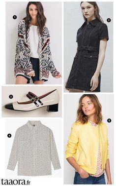Nouveautés mode printemps,été 2016  gilet folk, teddy jaune, chemise  imprimée,
