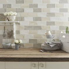 Craquele Glaze Tiles Kitchen Wall