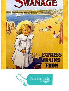 """London & South Western Railway - Swanage"" A4 Glossy Vintage Railway Poster Art Print from The Andromeda Print Emporium https://www.amazon.co.uk/dp/B071XC9K96/ref=hnd_sw_r_pi_dp_jNLqzb8VV8AXV #handmadeatamazon"