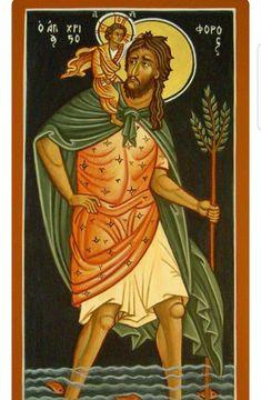 Orthodox Easter, Catholic Religion, Saint Christopher, Byzantine Icons, St Joseph, Christian Art, Religious Art, Saints, Disney Characters