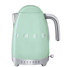 Smeg Variable Temperature Kettle, Pastel Green