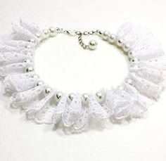 Is your best friend in your wedding party? This white pearl and white lace ruffle dog collar is the perfect thing. Or can wedding party Your place to buy and sell all things handmade Lace Ruffle, Eyelet Lace, Pet Dogs, Pets, Dog Clothes Patterns, Aggressive Dog, Dog Bows, Dog Costumes, Dog Dresses