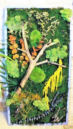 tableau réalisé avec des végétaux naturels stabilisés Rose Stabilisée, Decoration, Aquarium, Etsy, Gardens, Frames, Handmade Gifts, Diy Ideas For Home, Board
