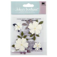 Jolees Boutique Vanilla Flower Stickers