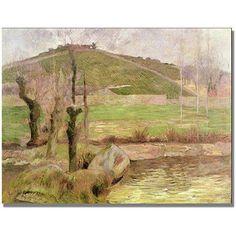 Trademark Fine Art Landscape Near Pont Aven Canvas Art by Paul Gauguin, Size: 35 x 47, Multicolor