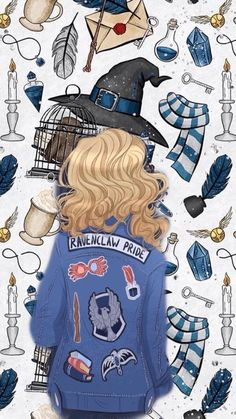 Ravenclaw wall paper - All subject Harry Potter Painting, Arte Do Harry Potter, Cute Harry Potter, Harry Potter Aesthetic, Harry Potter Fan Art, Harry Potter Universal, Harry Potter Fandom, Harry Potter World, Images Harry Potter