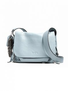 Copy Kate Bosworth's style with this light blue Coach Dakotah Small Flap Crossbody Bag